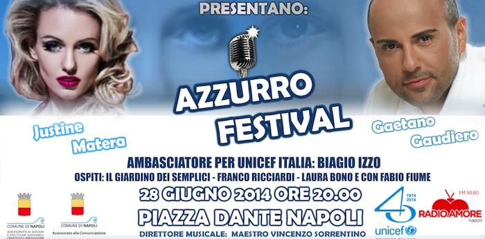 Locandina dell'evento Azzurro Festival in Piazza Dante a Napoli