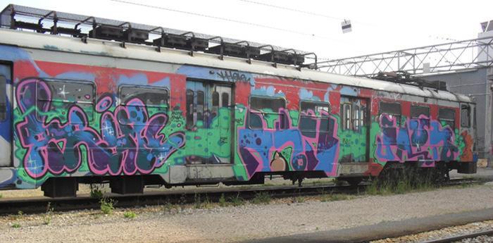 un treno della linea cumana di napoli