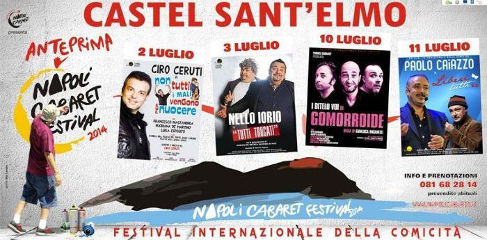 Locandina del Napoli Cabaret Festival a Castel Sant'Elmo