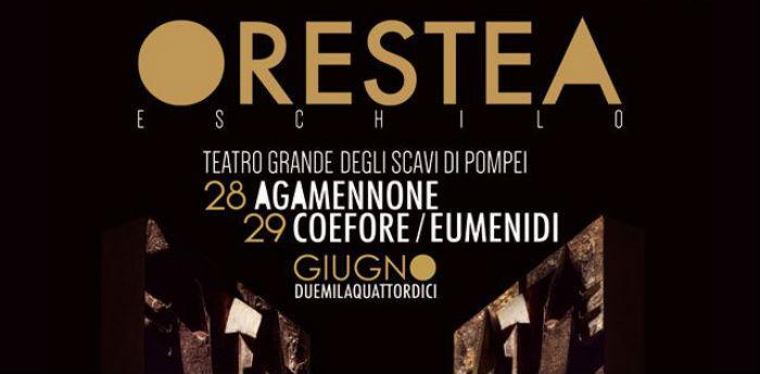 Locandina dello spettacolo Orestea al Teatro Grande di Pompei