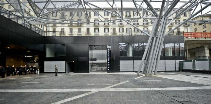 La stazione della metropolitana Garibaldi di Napoli