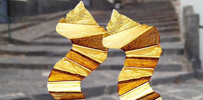 Le scale di Napoli trasformate in gioielli da Antonio Petacca