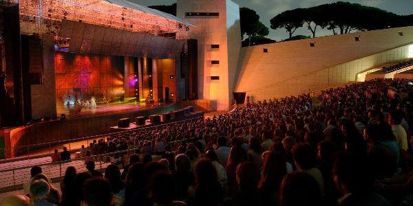 L'Arena Flegrea durante gli spettacoli e concerti
