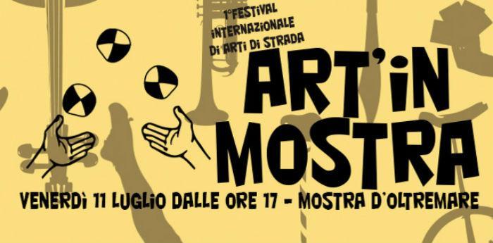 Locandina del Primo Festival Internazionale degli artisti di strada alla Mostra d'Oltremare di Napoli