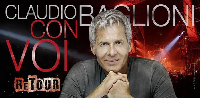 locandina del Con Voi Retour di Claudio Baglioni