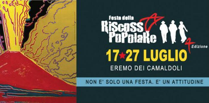 Locandina della Festa della Riscossa Popolare a Napoli Parco dei Camaldoli