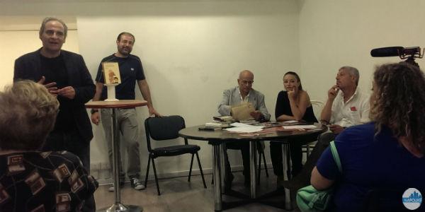 Ciro Sabatino presenta la libreria Iocisto in conferenza stampa
