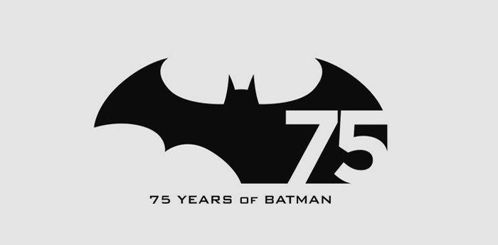 logo per i 75 anni anni di Batman