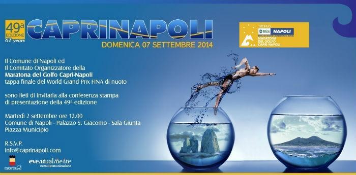 Locandina della 49esima edizione della Maratona Capri-Napoli