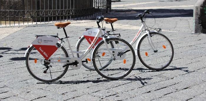 Bicilette da test per il bike sharing a Napoli