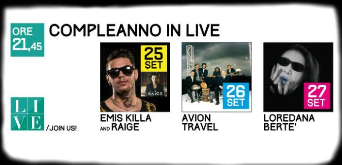 Emis Killa, Avion Travel e Loredana Bertè in concerto al Centro Commerciale Campania locandina