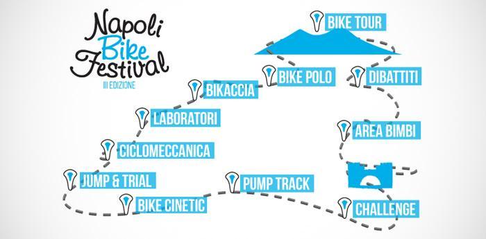 Mappa del Napoli Bike Festival 2014