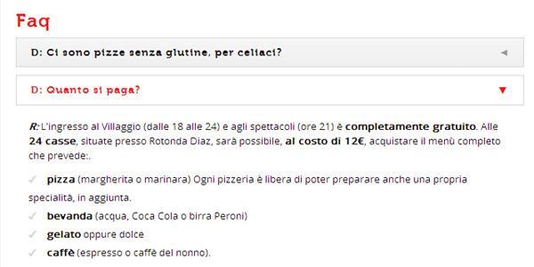 Prezzo Napoli Pizza Village 2014