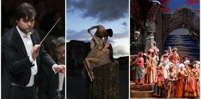Locandina della stagione teatrale 2014/2015 del Teatro San Carlo di Napoli
