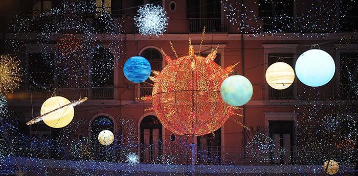 Luminarie delle Luci d'Artista a Salerno
