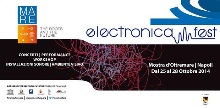 locandina dell'electronica fest 2014 di Napoli