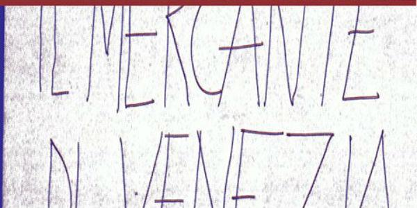 Il mercante di Venezia Galleria Toledo Napoli