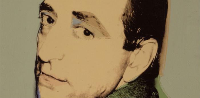 Ritratto di Lucio Amelio realizzato da Andy Warhol