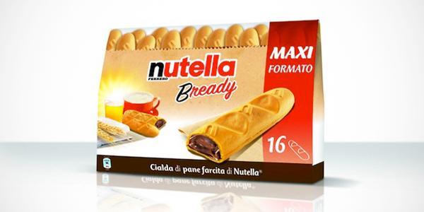 Il nuovo snack nutella bready
