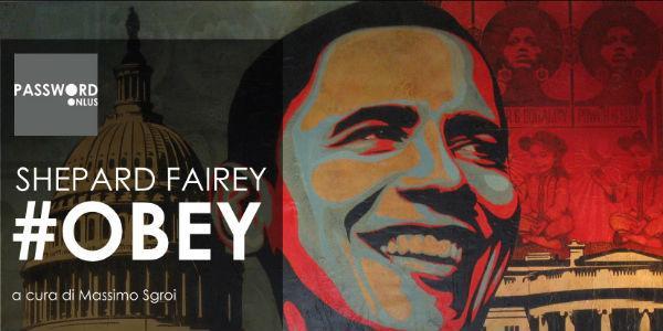 Locandina della mostra di Shepard Fairey al Pan di Napoli