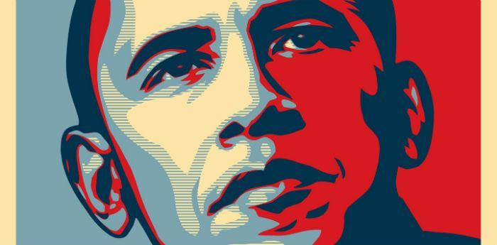Il manifesto Hope su Barack Obama di Shepard Fairey in mostra al Pan di Napoli