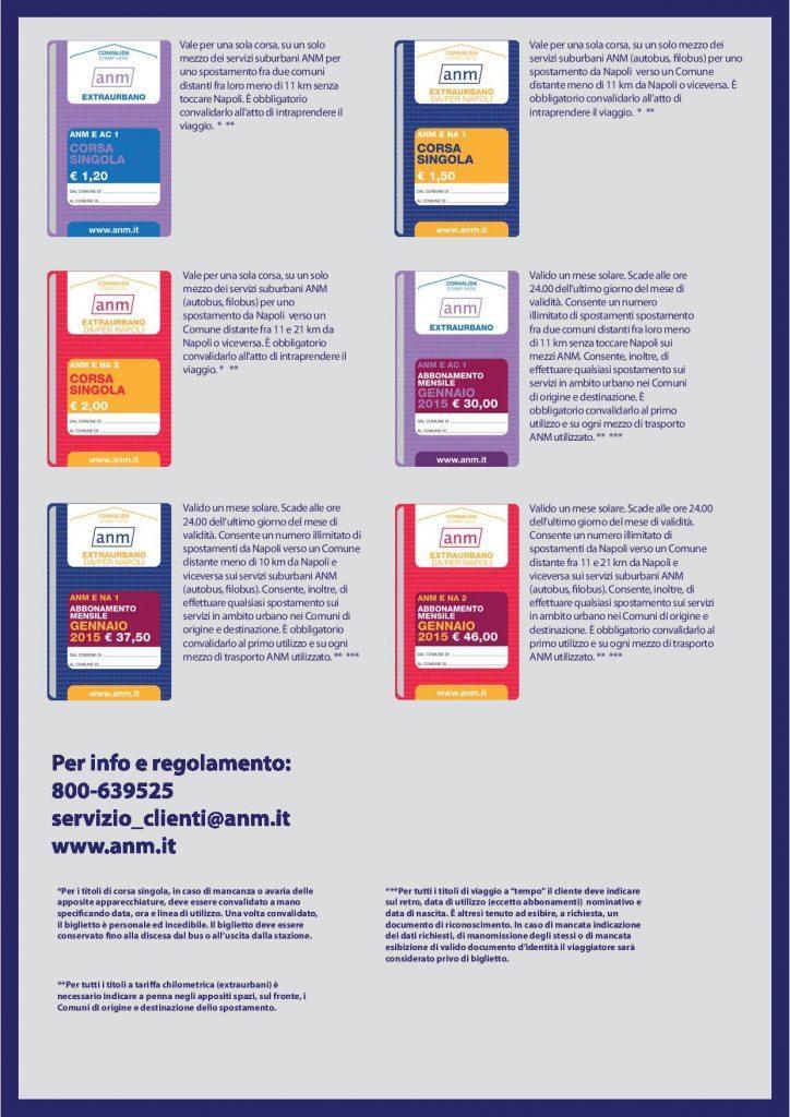 Anm nuove tariffe biglietti Napoli