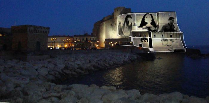 Videoinstallazione Castel dell'Ovo Napoli Capodanno 2015