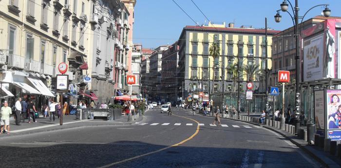 Ztl a Piazza Dante a Napoli