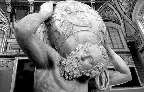 Dettaglio dell'Atlante Farnese