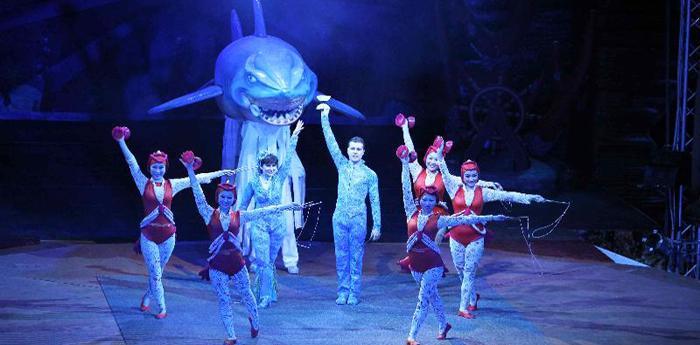 Scena del circo Magnifico Acquatico