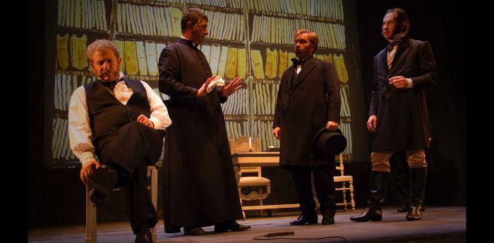 Enrico Guarneri nello spettacolo Mastro don Gesualdo al Teatro Bellini di Napoli