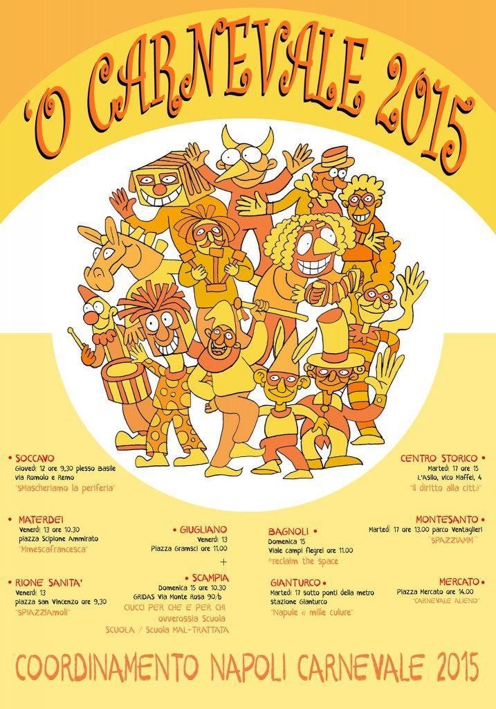 Locandina del Carnevale a Napoli 2015