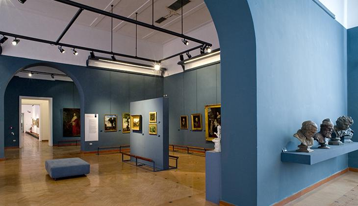 Sala quadri dell'Accademia Belle Arti di Napoli