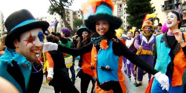 Il corteo del Carnevale di Scampia