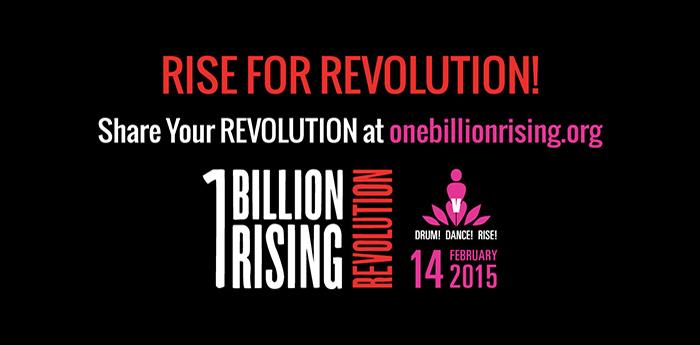 Locandina del flashmob One Billion Rising