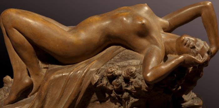 Una scultura della mostra Il Bello o il Vero a San Domenico Maggiore