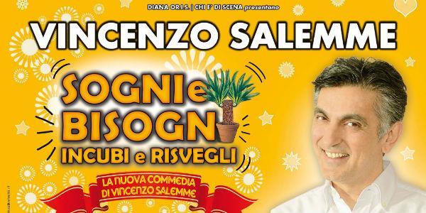 Vincenzo Salemme in Sogni e Bisogni al Teatro Diana di Napoli