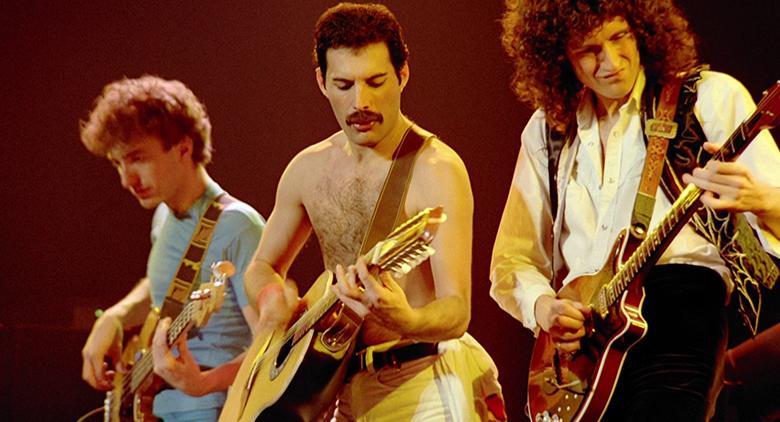 I Queen durante il concerto di Montreal