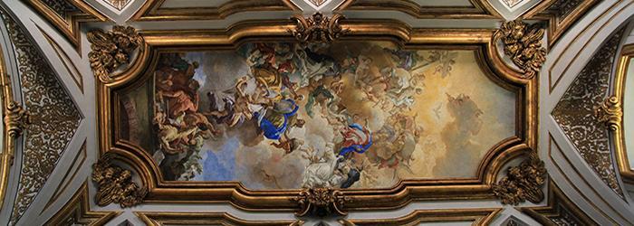 Soffitto della Sagrestia della Basilca di San Domenico Maggiore