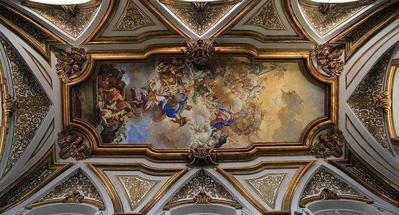 Soffitto della Basilica di San Domenico Maggiore a Napoli