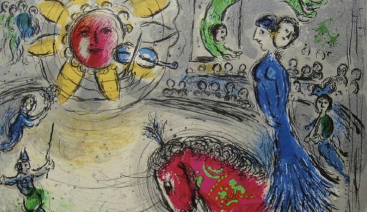 Litografia di Marc Chagall in mostra al MARTE di Cava de' Tirreni