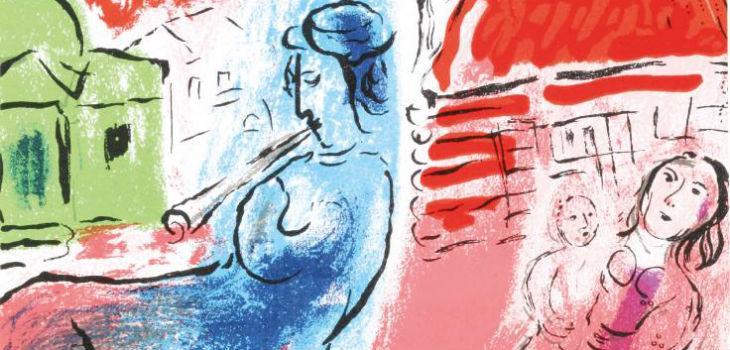 Un'opera dell'artista Marc Chagall in mostra al MARTE di Cava de' Tirreni