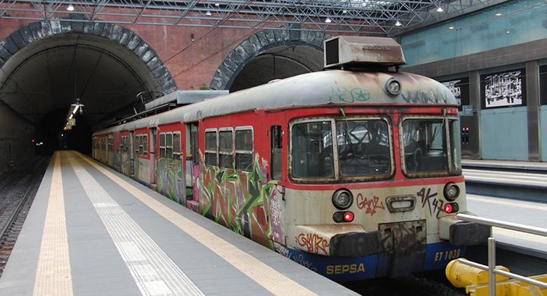 treno della cumana di Napoli