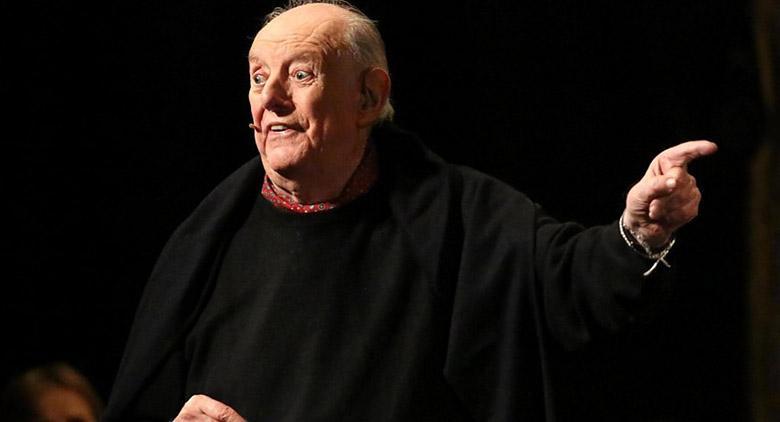 Il drammaturgo Dario Fo