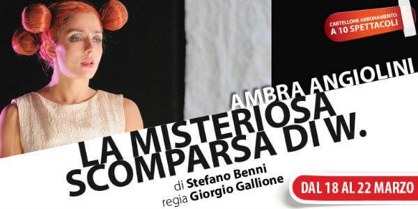 La misteriosa scomparsa di W al Teatro Nuovo di Napoli