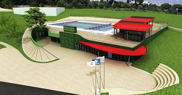 la piscina pubblica dei colli aminei