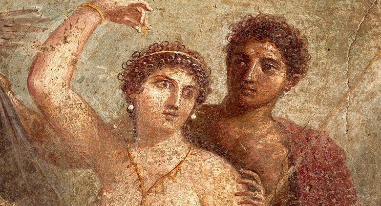 dettaglio di un affresco di Pompei