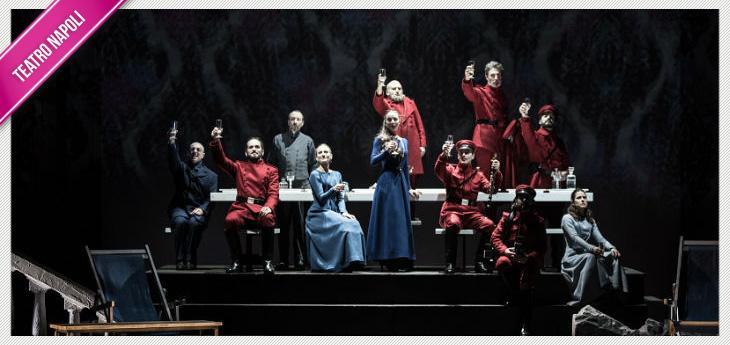 Una scena dello spettacolo Tre sorelle di Cechov al Teatro Mercadante di Napoli