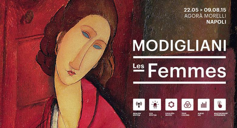 Locandina della mostra Les femmes di Amedeo Modigliani in mostra all'Agorà Morelli di Napoli
