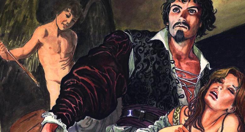 Copertina del fumetto su Caravaggio di Milo Manara